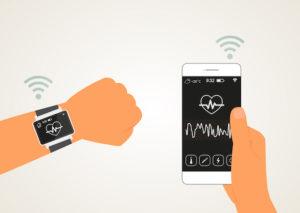 montre connecté et application connecté de santé